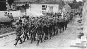 Soldados alemanes. Banda de música. Ampliar imagen