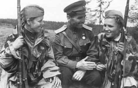Mujeres soldado soviéticas