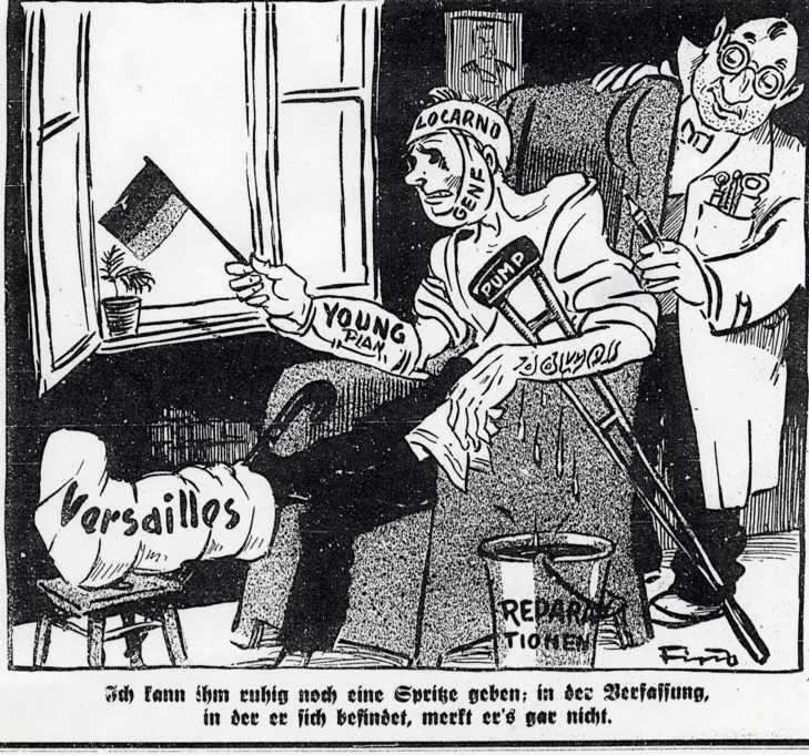 Resultado de imagen de tratado de versalles caricatura