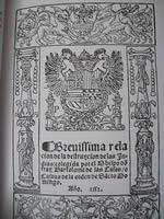 Portada de la Brevísima destrucción de las Indias de Bartolomé las Casas