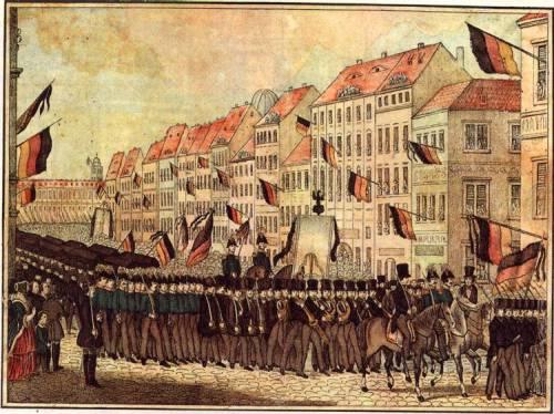 Imagen de la revolución de 1848 en Berlin