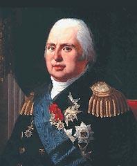 Luis XVIII de Francia (Palacio de Versalles, 17 de noviembre de 1755 - París, 16 de septiembre de 1824), representante del poder absoluto en Francia tras la caída de Napoleón