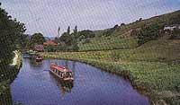 Canal navegable en Inglaterra